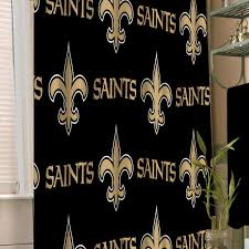 new orleans saints shower curtain football logo bathroom