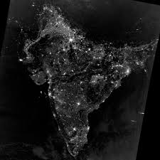 World At Night Map by South Asia On The Night Of November 12 2012