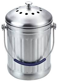 cook n home stainless steel kitchen compost bin contemporary