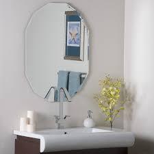 amazon com ascher cut frameless wall mirror home u0026 kitchen
