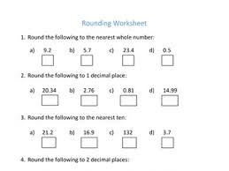 ks3 decimals worksheet rounding by curingd teaching resources
