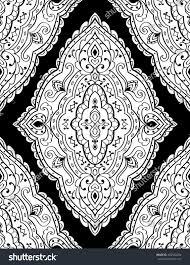 abstract ornament templates design carpets stock vector