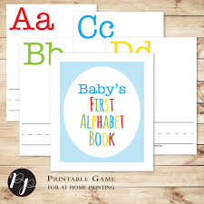 build a library baby shower game baby u0027s first alphabet book