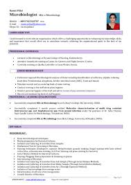 Cover Letter Microbiologist Microbiologist Resume Resume For Your Job Application