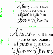 Home Is Quotes by A House Is Built Quote Wall Art Decal Vinyl Sticker