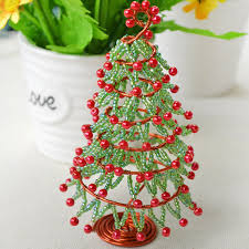 Christmas Decoration To Make At Home How To Make Christmas Tree Ornament For Desk Decoration 7 Steps
