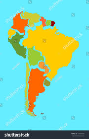 Map Of South America With Countries by South America Vector Map Separated Countries Stock Vector