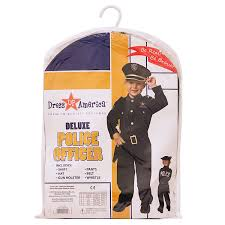 amazon com dress up america toddler deluxe police officer costume