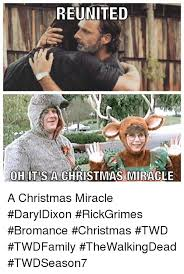 Christmas Miracle Meme - reunited ohitus a christmas miracle a christmas miracle daryldixon