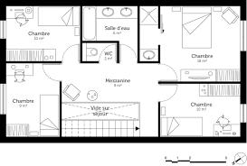 plan maison etage 3 chambres plan maison a etage 4 chambres plans maison plain pied 3 chambres