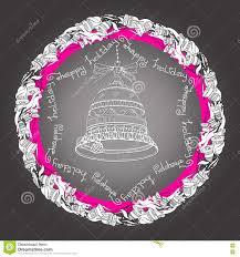 mandala with bells handwritten words happy
