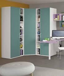 mobile ad angolo soggiorno armadio ad angolo 169x169 cm per cameretta con cabina e librerie a