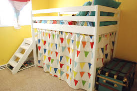 Hiding Beds Ikea by Ana White Diy Jr Camp Loft Bed With Curtain Diy Projects