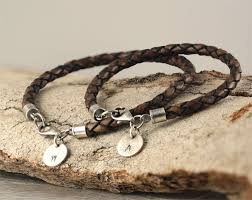 leather hand bracelet images Matching couple bracelets personalized bracelets hand jpg