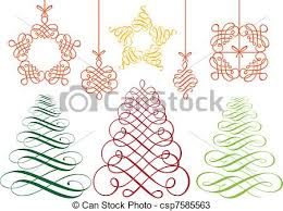 vectors of christmas ornaments vector set set of flourish