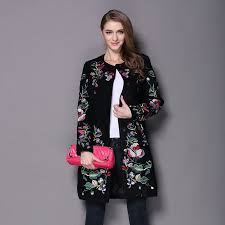 Womens Winter Coats Plus Size Online Get Cheap Embroidery Woolen Overcoat Aliexpress Com