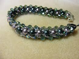 bead weave bracelet images Flat spiral weave bracelet linda 39 s art barn jpg
