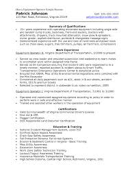 Sample Resume Construction by Equipment Operator Sample Resume 20 Page Literature Review