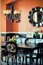 decorative mirrors dining room indoor color trends orange wall color in dining room and white and