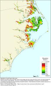 Map Of N Carolina More Sea Level Rise Maps Of North Carolina
