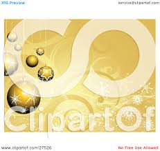 clipart illustration of a group of gold snowflake and star