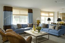 Living Room With Blue Sofa by Innovative Blue And Brown Living Room Simple Bedroom Decorating