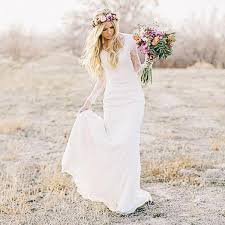 style wedding dresses lace sleeves bohemian wedding dress wedding gowns