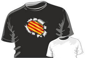 British Flag Shirts Ripped Torn Metal Design With Catalonia Catalan Flag Motif Mens Or