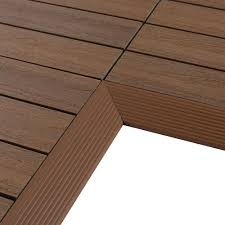 Teak Floor Tiles Outdoors by Composite Deck Tiles Decking The Home Depot
