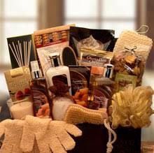 spa gift baskets for women shop caramel spa treasures chest gift basket online