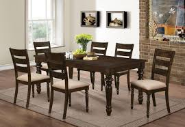 new classic annandale 7pc dining table in antique tobacco by