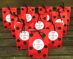 personalized party favor bags personalized ladybug birthday party favor bags ladybug treat