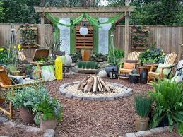 Pergola With Fire Pit by Backyard Oasis With Wooden Furniture And Firepit And Pergola