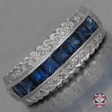 Diamond Sapphire Wedding Ring by Fay Cullen Archives Wedding Bands Deco Sapphire Wedding Band