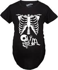 Pregnancy Halloween Costumes Skeleton by Crazy Dog Tshirts Maternity Skeleton Baby T Shirt Halloween