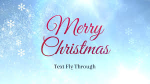 merry christmas text flythrough u2013 free after effects template