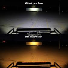 52 inch led light bar cover 6 8 snap on amber 50inch curved led light bar lens cover offroad