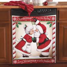 christmas kitchen decorating ideas amazon com kissing santa christmas kitchen dishwasher cover