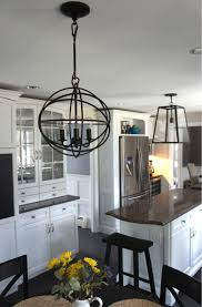 accessories zenda orb chandelier with wood bar stoo and white