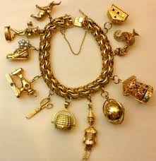 vintage charm bracelet charms images Wonderfully rare vintage charm bracelet at 1stdibs jpg