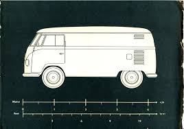 volkswagen van drawing thesamba com vw archives 1957 vw panelvan logo template
