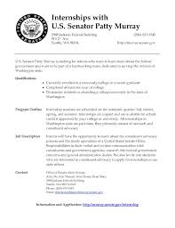 Job Description Resume Intern by Politics And Government University Of Puget Sound August 2012