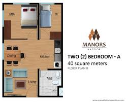 2 bedroom condo floor plans camella homes manors bacoor two 2 bedroom 40 sqm