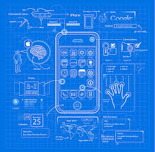 design blueprints iphone blueprint design graphics illustration clever