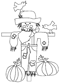 thanksgiving coloring pages scarecrow coloringstar