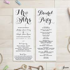 custom wedding programs wedding program template wedding order of service 2480548 weddbook