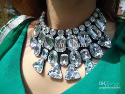 crystal necklace statement images 2018 statement necklace large crystal gem necklaces luxury metal jpg