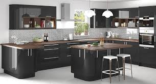 Black Gloss Kitchen Cabinets High Gloss Lacquered Doors