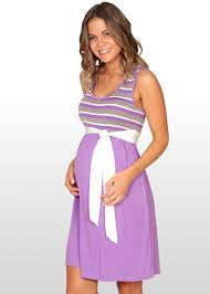maternity clothes nz mauve striped maternity dress d004g side angle 4x rock your bump