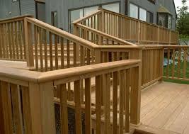 patio deck railing design how to build a simple wooden deck railing